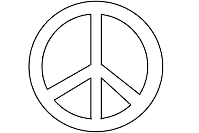 symbole paix a colorier