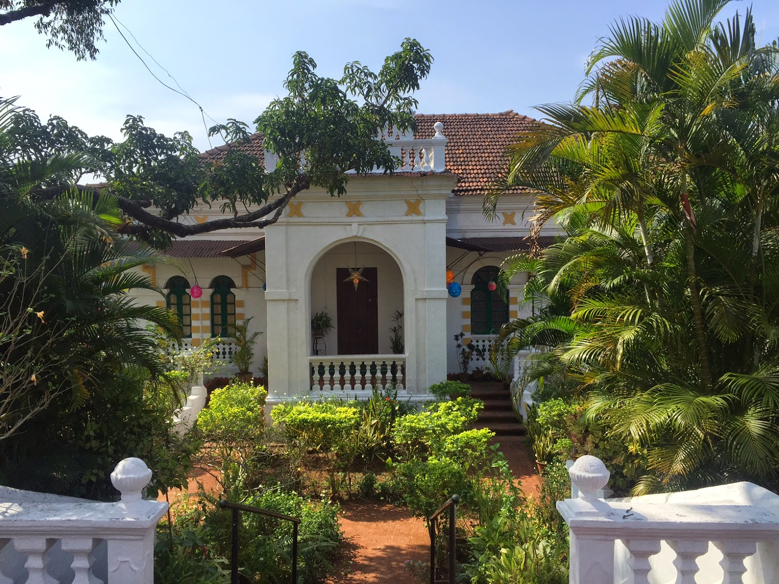 goa beyond beaches Portuguese house green
