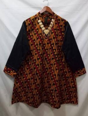 Contoh baju atasan batik orang gemuk