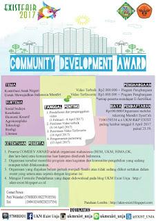 Lomba Comdev Award Exist Fair 2017