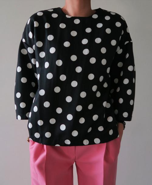Polka Dot Loose Shirt
