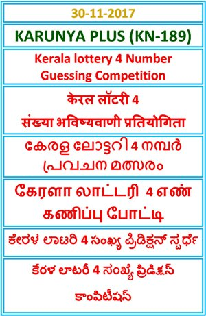 4 Number Guessing Competition KARUNYA PLUS KN-189