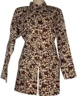 Model Baju Batik Wanita Desain Terbaru Modern