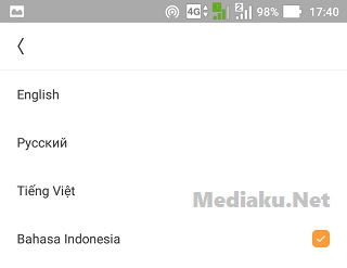 Ganti Bahasa Indonesia Di UC Mini