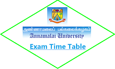 Annamalai University Exam Time Table May June 2020
