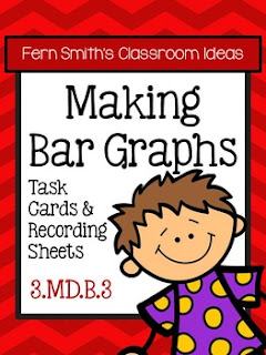 Fern Smith's Classroom Ideas Making Bar Graphs Task Cards, Recording Sheets and Answer Keys at TeacherspayTeachers.