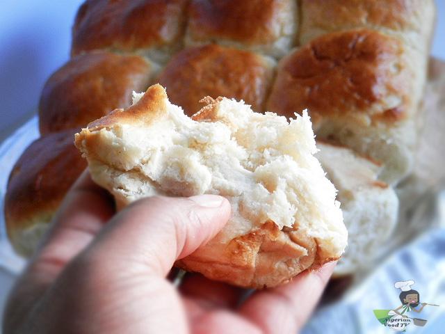 inside of Nigerian Pull Apart Bread rolls