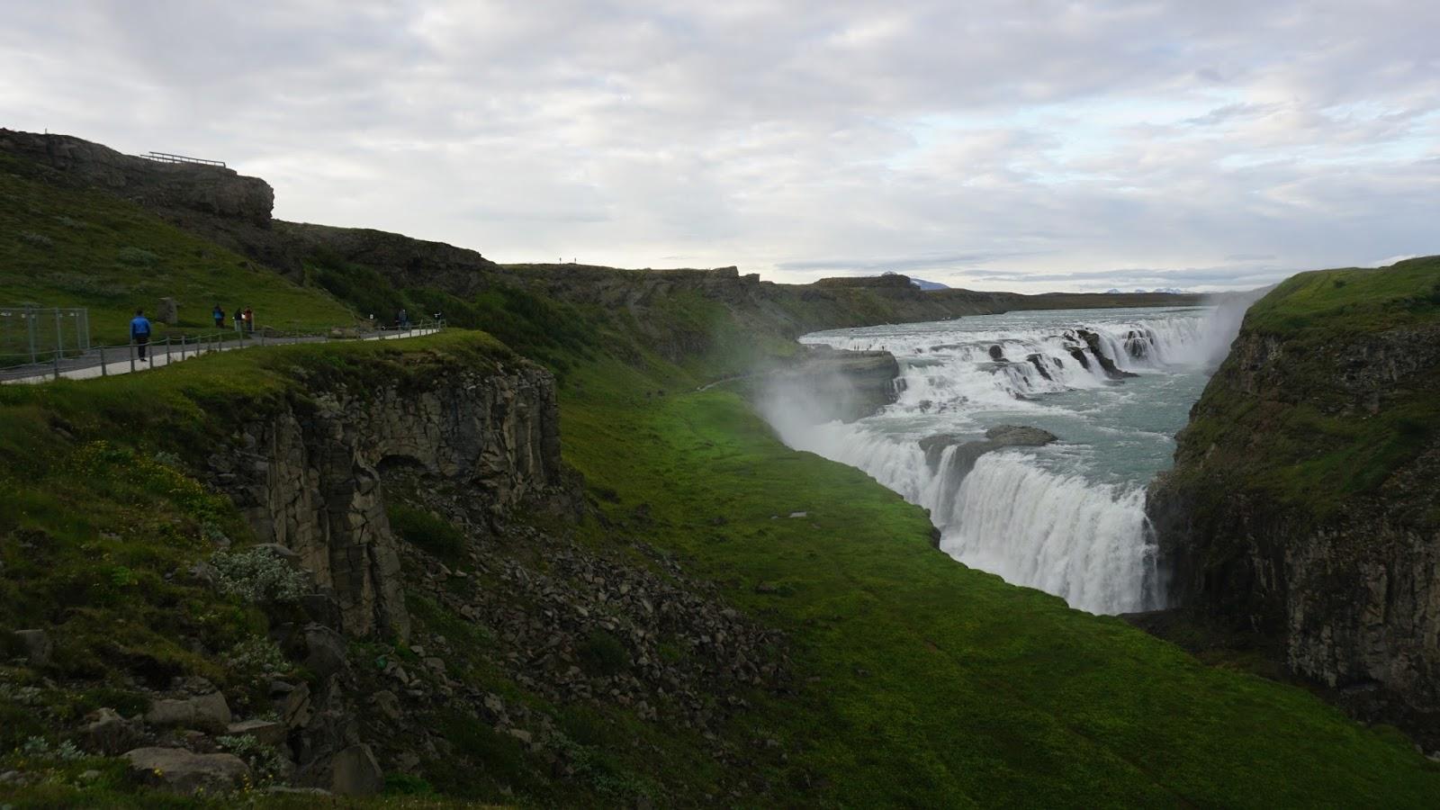 Gullfoss, islandzki wodospad, wodospad w Islandii, Islandia