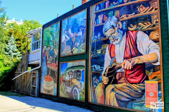 Mural w Islington Toronto