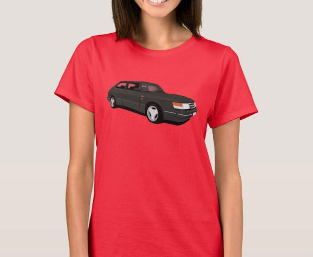 Saab 900 Turbo 16  Aero t-shirt black