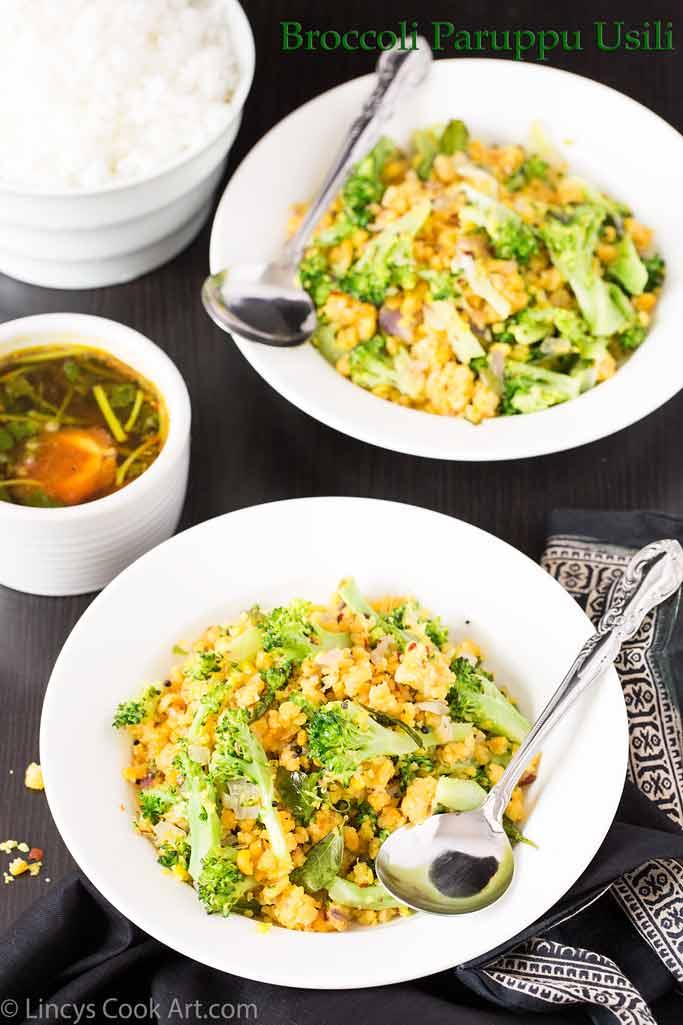 Broccoli Paruppu Usili recipe