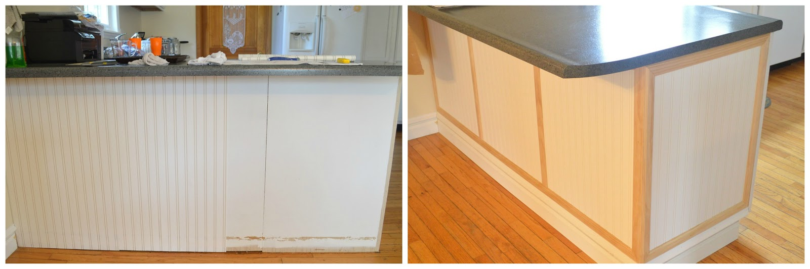 Diy Beadboard Kitchen Cabinets Liquid Nails