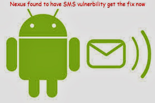SMS vulnerability all Nexus phones including your newly acquired Nexus 5 lets anybody make it go crazy or stop functioning, check out the fix here