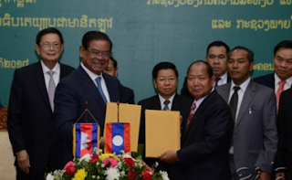 Lao and Khmer Ministers meet