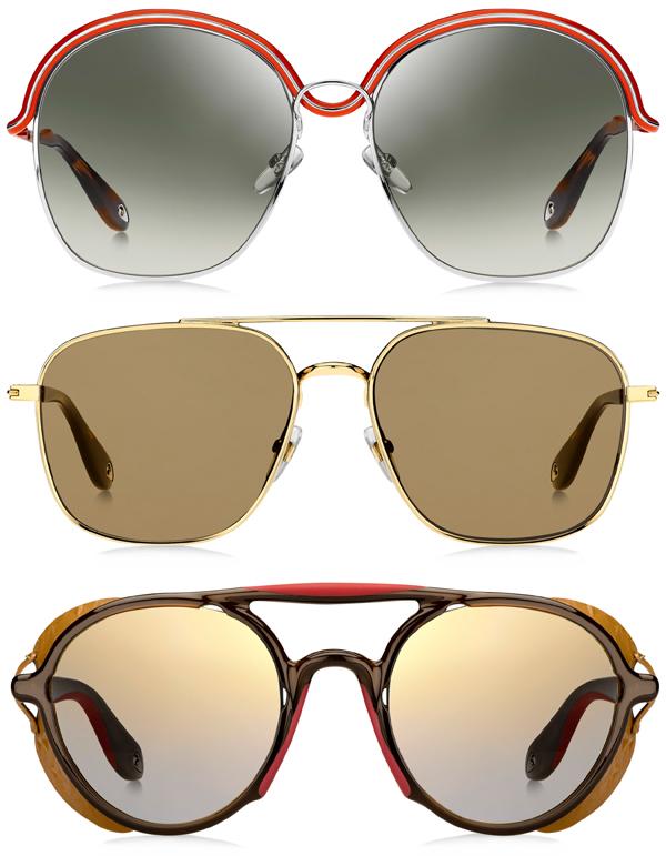 ad6a00a430ee5 ... óculos de sol da coleção Givenchy outono inverno. Para quem gosta de  marcar pela diferença, destacam-se os modelos com um toque de ousadia, ...