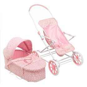 Rosebud 3-In-1 Doll Pram/Carrier/Stroller