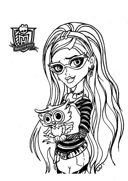 Monster High Halloween Coloring Pages     Kb