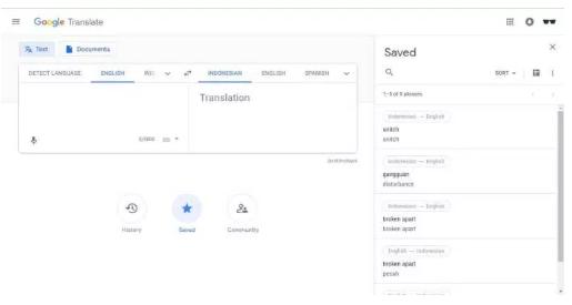 Cara Melihat Riwayat Google Translate