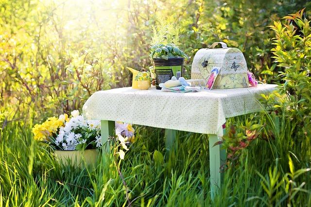 idée de décoration pour repas champêtre, en extérieur, mariage, fêtes