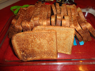 A loaf of Hovis Toasted to make Toast Christmas Decorations