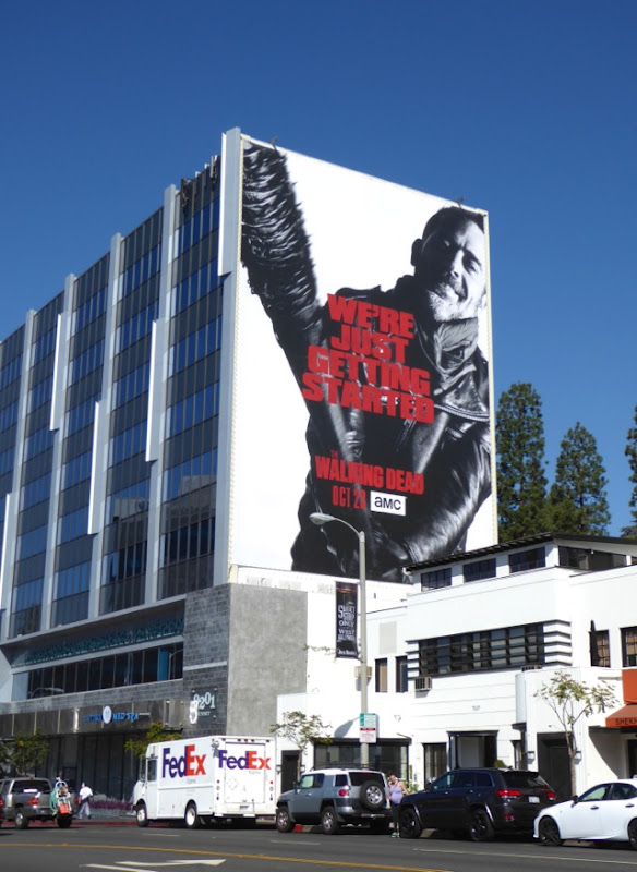 Walking Dead season 7 giant billboard Sunset Strip