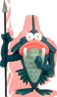 Manly Fish Earthbound official Nintendo Power art artwork render
