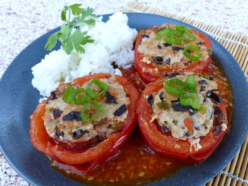 Tomates farcies à la vietnamienne