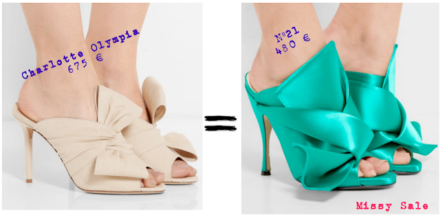Mules con lazada Nº21 vs. Charlotte Olympia SS 2016