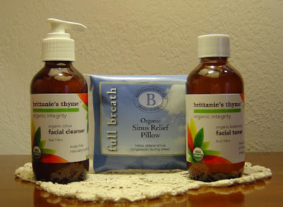 Brittanie's Thyme Organic Sinus Relief Pillow, Citrus Facial Cleanser and Balancing Toner.jpeg