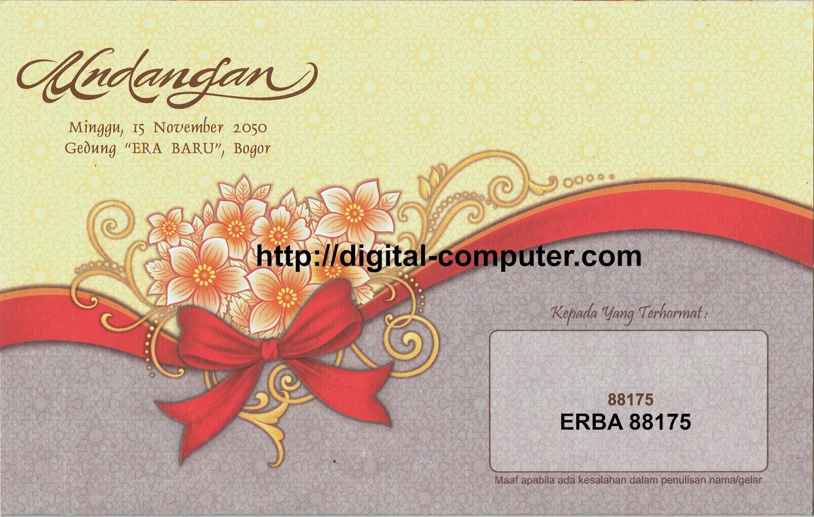 undangan pernikahan harga 1200