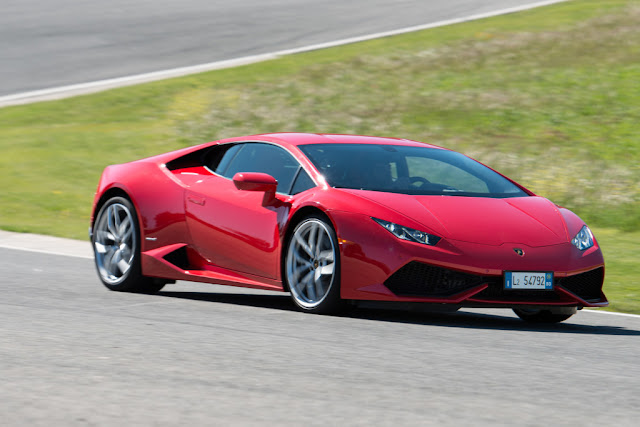 2015 Lamborghini Huracan Red HD Desktop Wallpaper