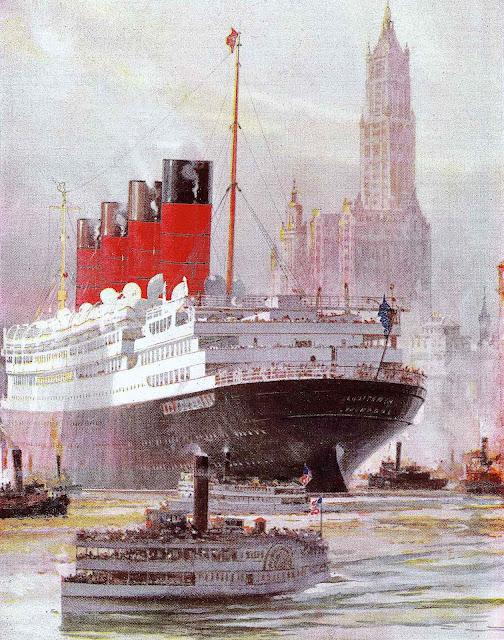 a 1926 Cunard Line poster
