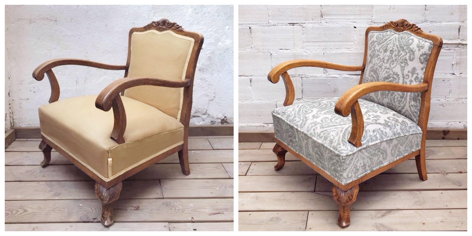 Antes y después - Butaca clásica de madera - Studio Alis