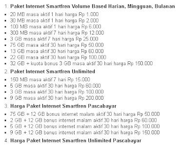√ Cara mengaktifkan paket internet SmartFren Terbaru dengan harga Paket Paling Murah Daftar Paket Internet SmartFren 5