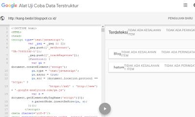 Struktur data template harus baik