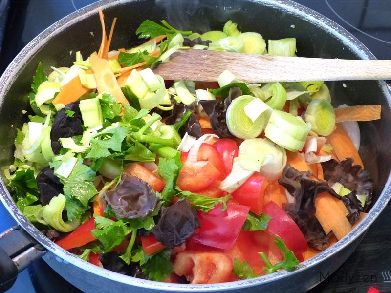 Ajoutez les légumes.