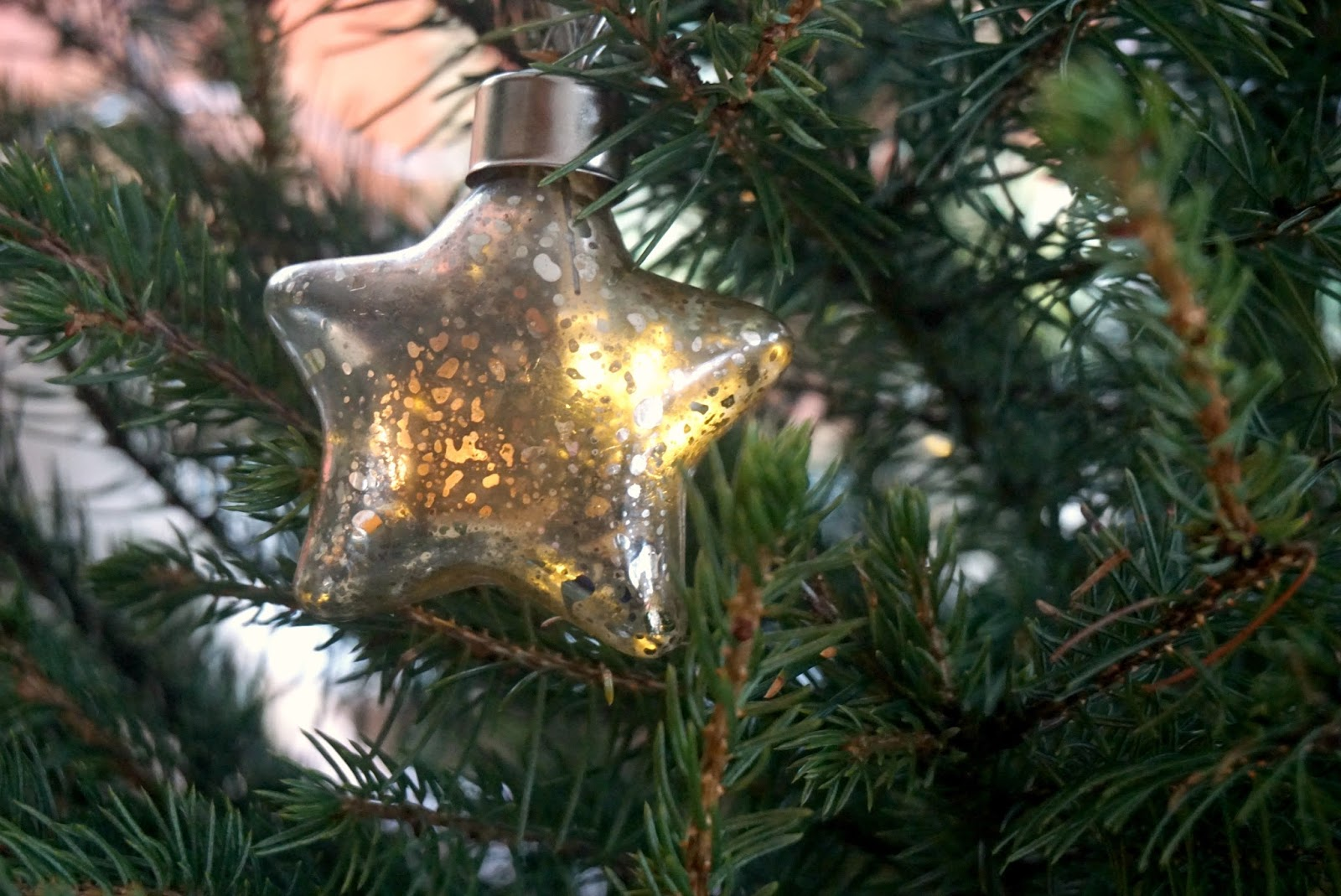 Debenhams Gold Glass Star Fairy Lights