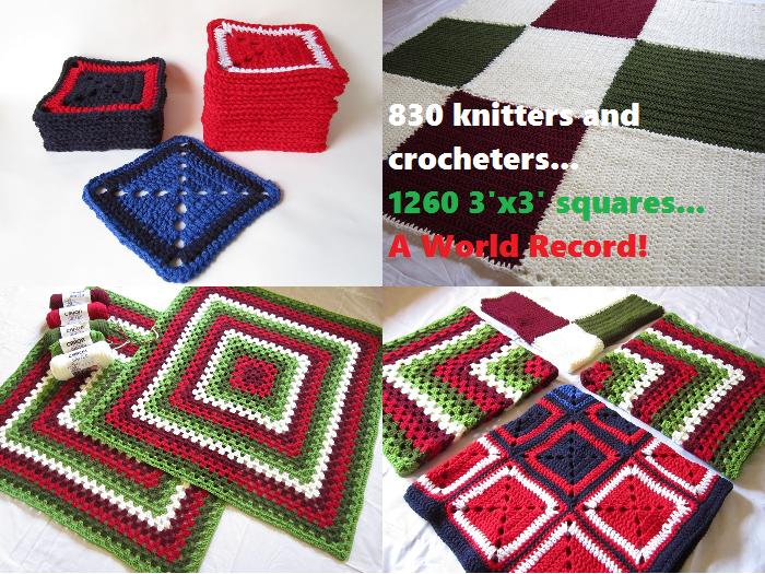 crochet, World's Biggest Stocking, blankets
