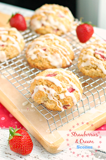 Strawberries and Cream Scones by The Sweet Chick