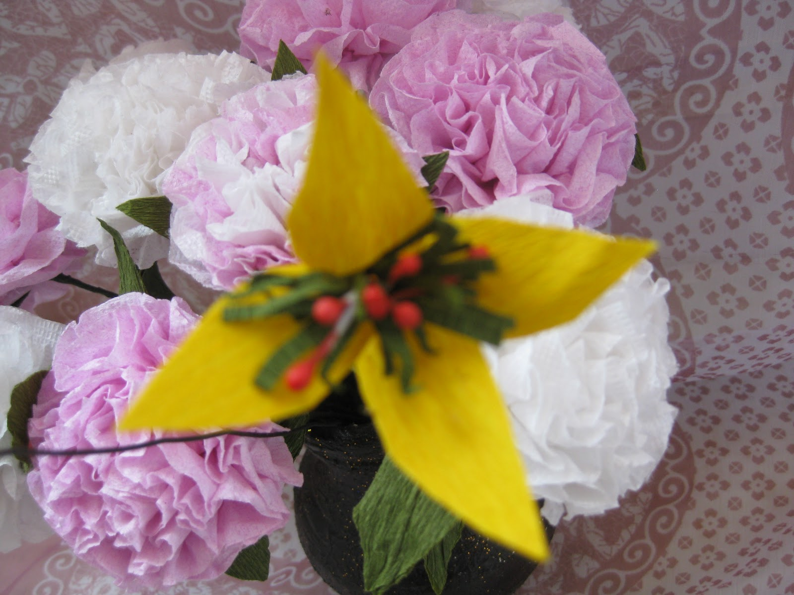 Himaja S Crafts Duplex Paper Or Creap Paper Flowers