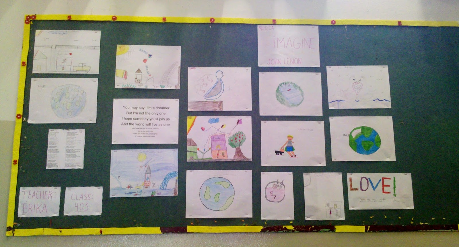 teacher imagine musica mural infantil