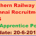 Southern Railway Chennai Recruitment 2016 Apply for 862 Apprentice Posts