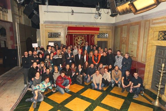 Prince Felipe  and Princess Letizia of Spain visited the filming of Isabel a TVE series