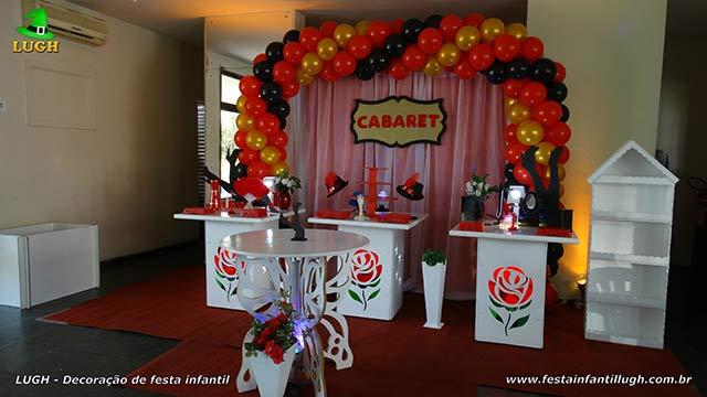Decoração provençal - Mesa de aniversário feminino Cabaret