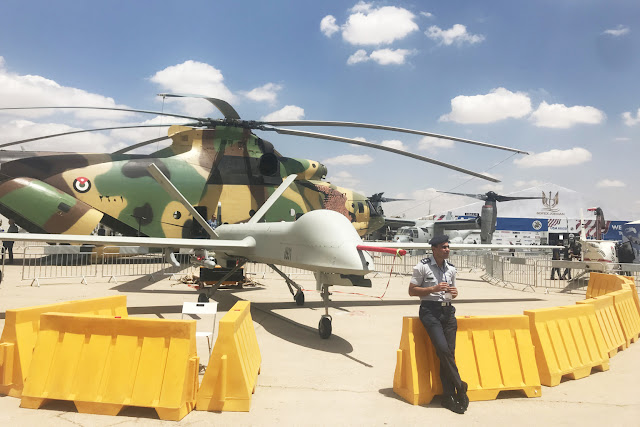Jordan's Chinese CH-4 drone on display at this year's SOFEX arms show