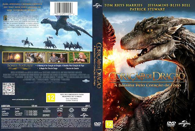 Capa DVD Coração de Dragão A Batalha Pelo Coração de Fogo [Exclusiva]