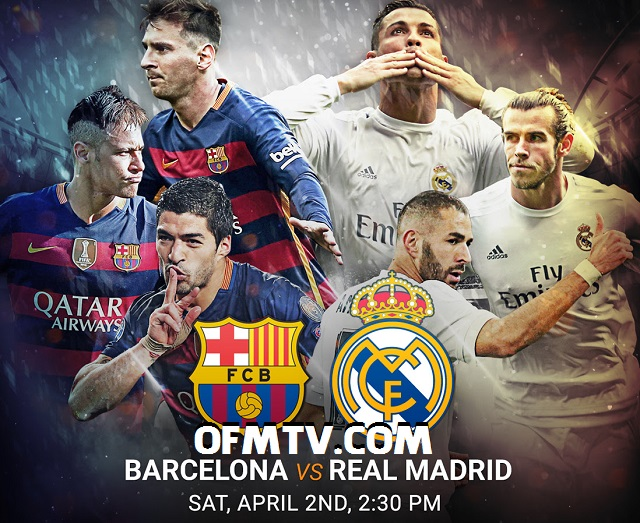 Barcelona vs Real Madrid LIVE Streaming TV