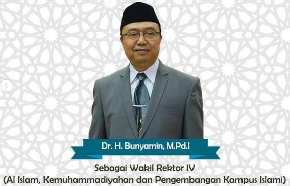 Dr. H. Bunyamin, M.Pd Sebagai Wakil Rektor IV
