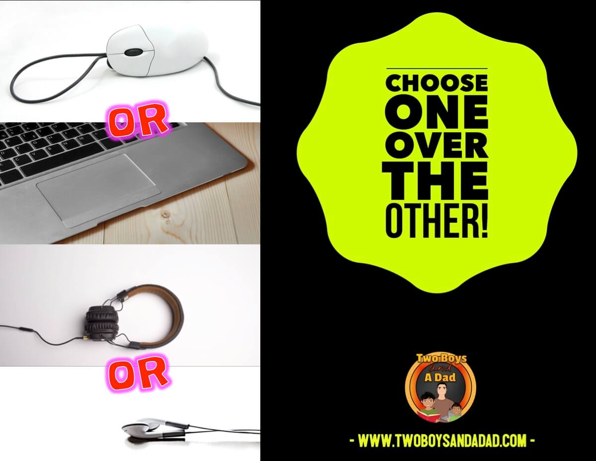 Do you use mice or trackpads? Earbuds or headphones?