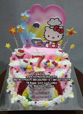 Kue Tart Ulang Tahun Hello Kitty Birthday Cake